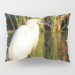 Egret at the lake Pillow Sham