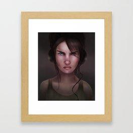 Irked Framed Art Print