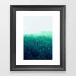 Green Fog Framed Art Print