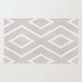 Stitch Diamond Tribal Print in Grey Rug