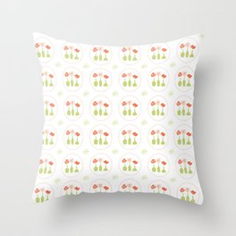 Poppy Pattern Collection - Trio of flowers Throw Pillow