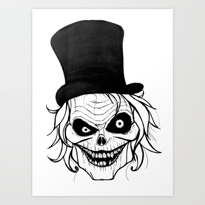 The Hatbox Ghost Art Print By Cutielamerr Society6
