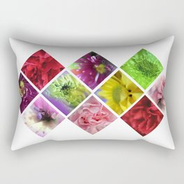 Geometry Flowers Rectangular Pillow