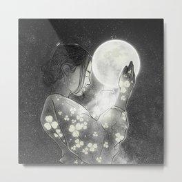 The moon & me. Metal Print