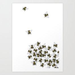 Swarm of Bees  Art Print