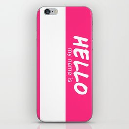 Hello My Name is (DIY Draw it Yourself!) iPhone Skin