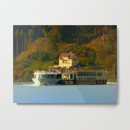 Cruise ship on the river Danube | waterscape photography Metal Print