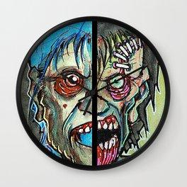 Two Half Zombie Wall Clock