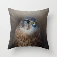 merlin Throw Pillows featuring The Merlin by Pauline Fowler ( Polly470 )
