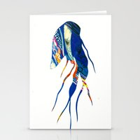 jelly fish Stationery Cards featuring Jelly Fish by Ingrid Holborn