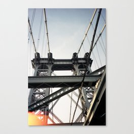 the top of the williamsburg bridge Canvas Print