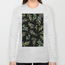 Eucalyptus and Olive Pattern  Long Sleeve T-shirt