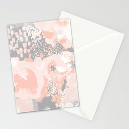 Penelope - abstract millenium pink and grey painting large canvas art decor Stationery Cards