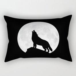 Howling Wolf - Moon Rectangular Pillow