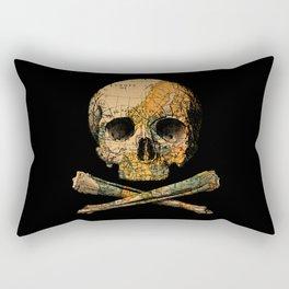 Treasure Map Skull Wanderlust Europe Rectangular Pillow