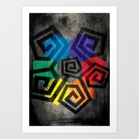 Colors And Shapes Geometric Abstract Art Print