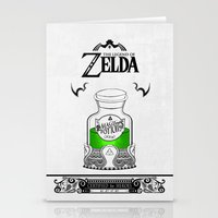 majora Stationery Cards featuring Zelda legend - Green potion  by Art & Be