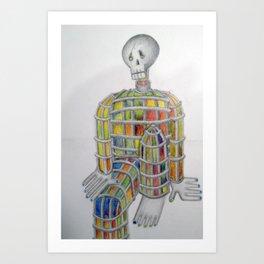 Lonely Skeleton Art Print
