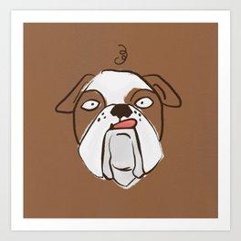 Bono the Bulldog Art Print
