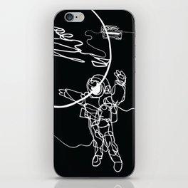 Astronaut in spacesuit, planet, spacecraft, car, cabriolet in space iPhone Skin
