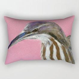 American Bittern Rectangular Pillow