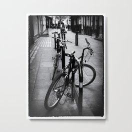 Bikes in London Metal Print