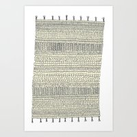 rug Art Prints featuring Rug by Rebecca Zablocki