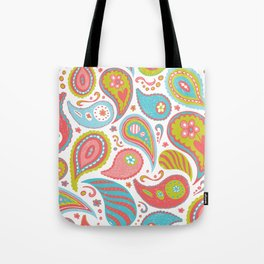 Power Paisley Tote Bag