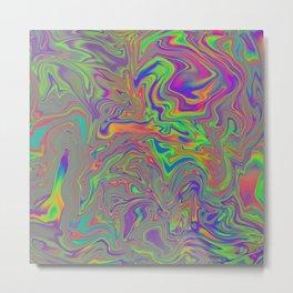 Opalescent Marble Swirl Metal Print