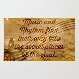 Plato's Quote on Music  Rug