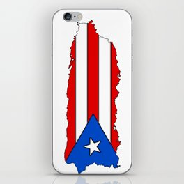 Puerto Rico Map with Puerto Rican Flag iPhone Skin