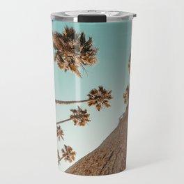 {1 of 2} Hug a Palm Tree // Tropical Summer Teal Blue Sky Travel Mug
