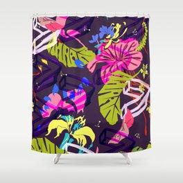 Mad Tropics Seamless Print Shower Curtain