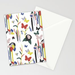 Rainbow Butterfly Lotus Garden Stationery Cards