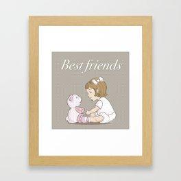 best friends v3 Framed Art Print