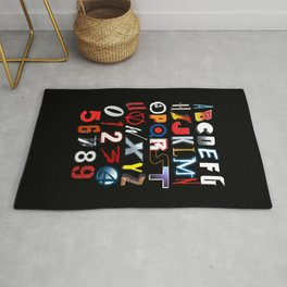 'M' is for 'Movies' Rug