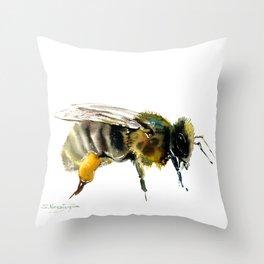 Bee, bee design honey bee, honey making Throw Pillow