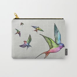 Swallows in Flight Carry-All Pouch