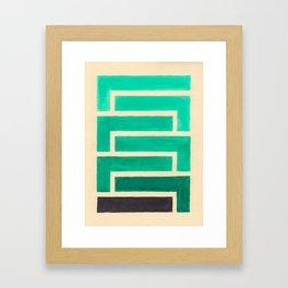 Turquoise Geometric Aztec Pattern Framed Art Print