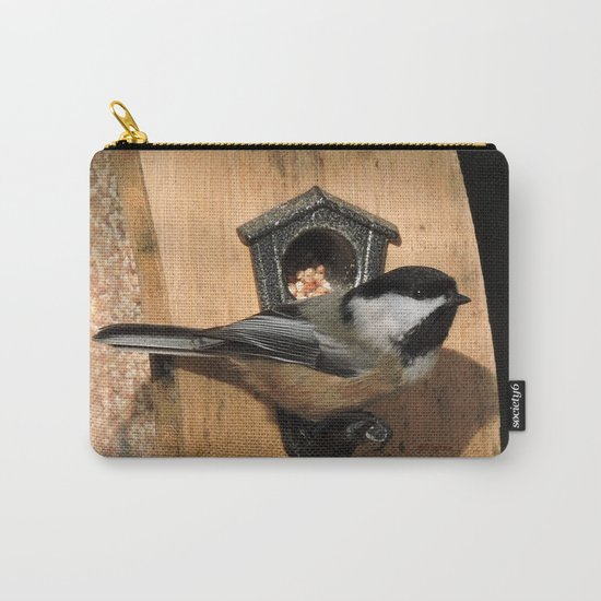 Black-Capped Chickadee at the Feeder Carry-All Pouch
