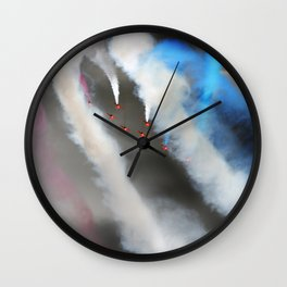 Watercolors on the sky Wall Clock