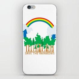 Save the Rainbows iPhone Skin