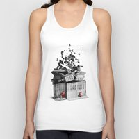house Tank Tops featuring house by Pal Varsanyi