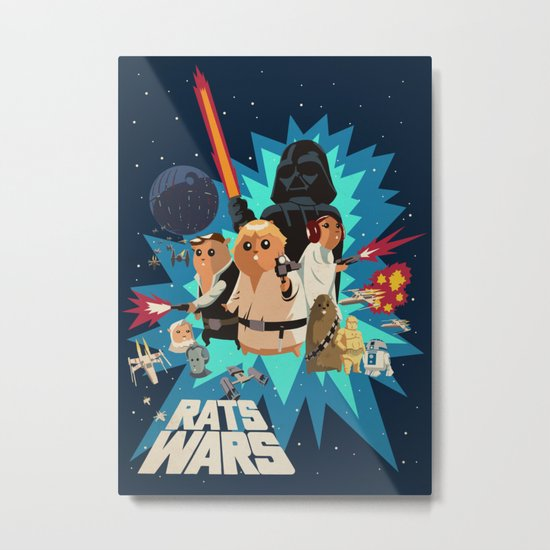 Star Wars FanArt: Rats Wars Metal Print