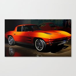 Little Red 'Vette Canvas Print