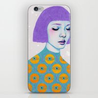 sweater iPhone & iPod Skins featuring The Observer by Natalie Foss