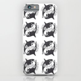Save The Orcas (50% of commission is donated to the World Wildlife Fund) iPhone Case