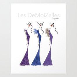 LES VIOLETTES Art Print