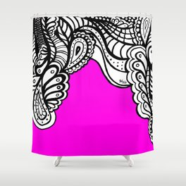 Pink Doodle Shower Curtain
