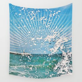 Sea spray - sunset graphic Wall Tapestry